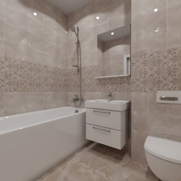 Global Tile, Neo Chic damask, Два декора