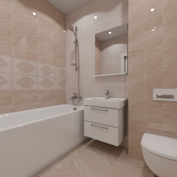 Global Tile, Ternura decor, Два декора над ванной